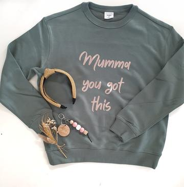 MUMLIFE THE LABEL - Mumma You Got This Jumper With With Rose Gold Writing