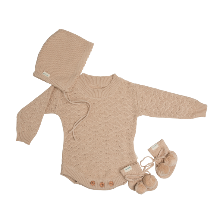 Kute Cuddles - Organic Knitted Romper - August