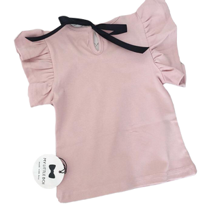 Flutter & Satin Bow Tops | Various Colours