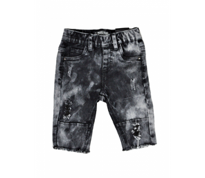 TPTB - DISTRESSED AUTHORITY SHORTS - BLACK