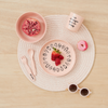 The Little Homie - 'Eat Was All A Dream' Bamboo Dinnerwear Set | Peach