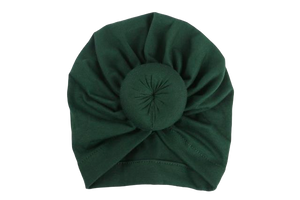 Top Knot Beanie | Hunter Green