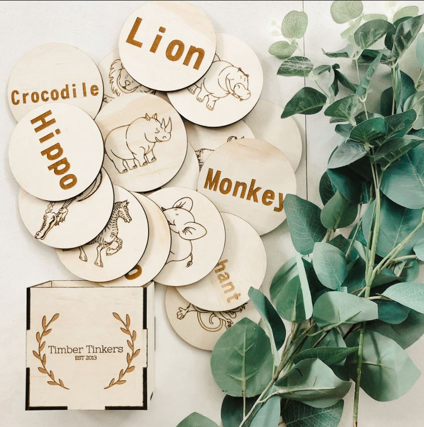 Timber Tinkers - Safari Word Match Up Game