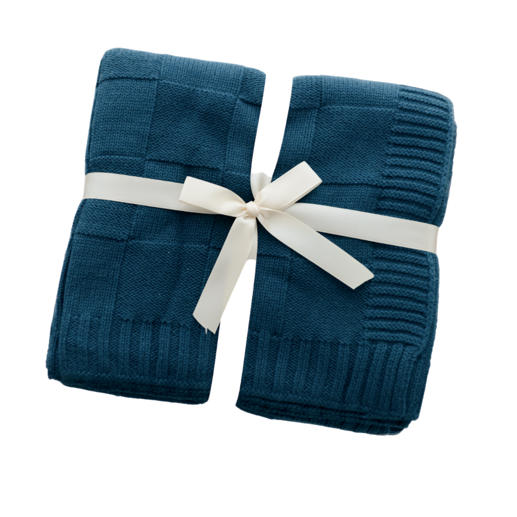 Anchor & Arrow - Knit Baby Blanket - Sea Glass
