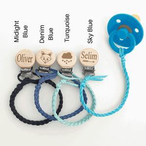 Our Little Helpers - Faux Leather Dummy Clip | Pinks & Blues