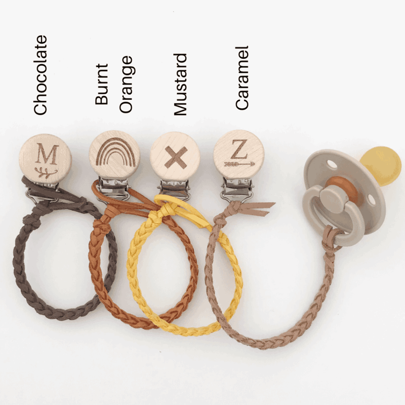 Our Little Helpers - Faux Leather Dummy Clip | Earth Colours