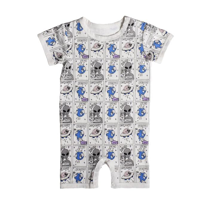 Anarkid - CARTOON AOP SS ROMPER