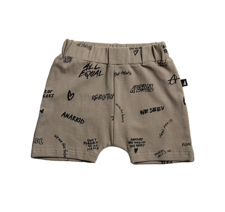 Anarkid - PEACE AOP GREEN BABY SHORTS