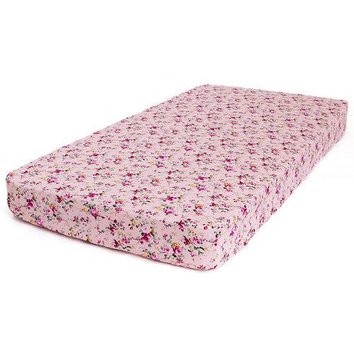 Bambella Designs - Cot Sheet | Pink Flower