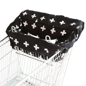 Bambella Designs - Trolley Liner - Crosses Black