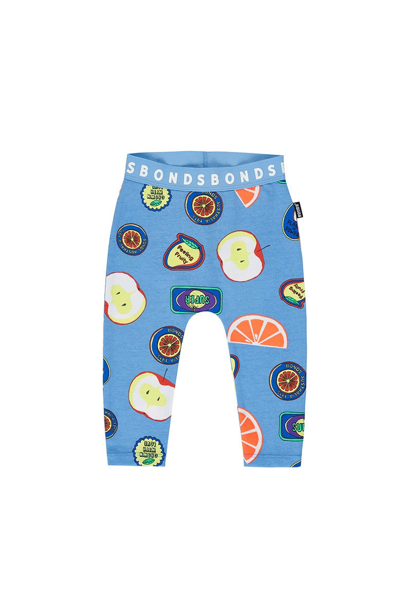 BONDS - Stretchies Leggings | Fruit Sticker Fun Blue