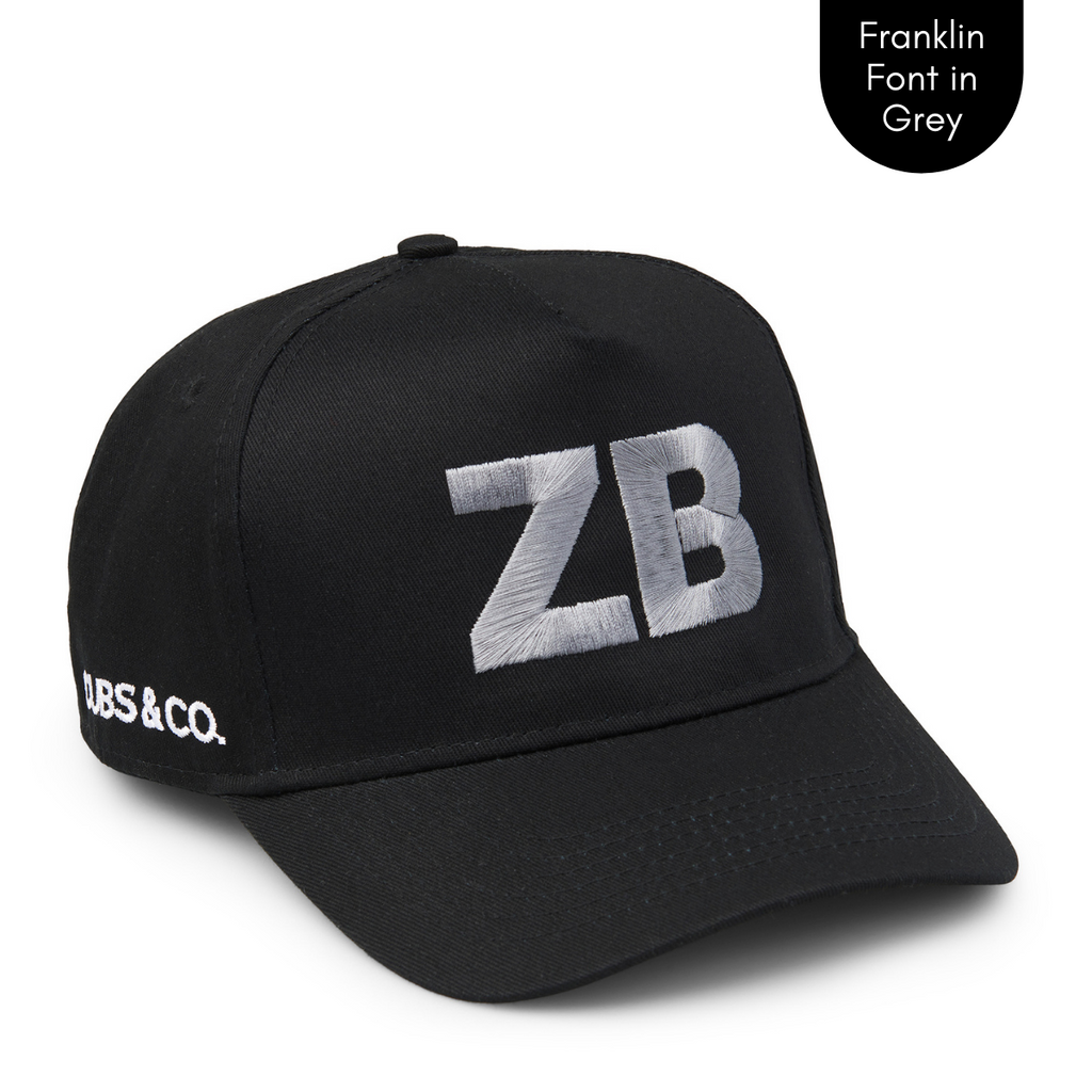 Cubs & Co - PERSONALISED BLACK W/ INITIALS | FRANKLIN GREY PRINT