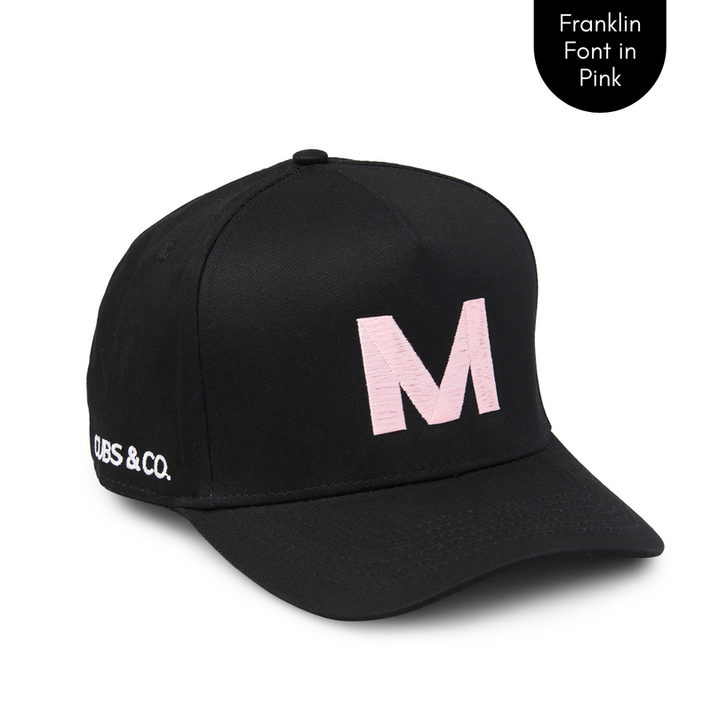 Cubs & Co - PERSONALISED BLACK W/ INITIALS | FRANKLIN PINK PRINT