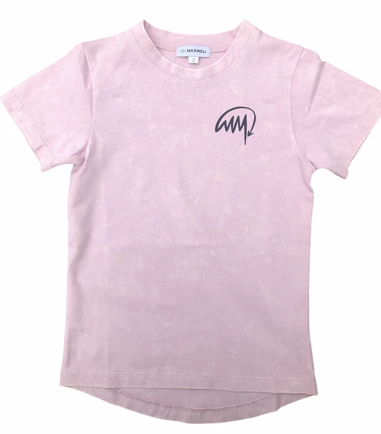 Mini Maxwell - Stone Washed Pink T Shirt