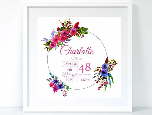 BabyCusch - Beautiful Floral Frame