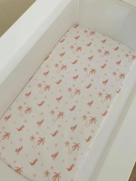 Olive June & Co - Fitted Bassinet Sheet | Summer Sunset