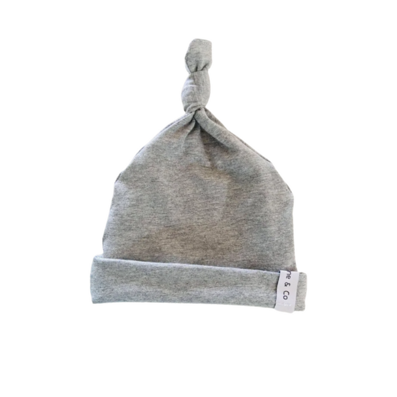 Olive June and Co - Knot Tie Seamless Beanie | Charcoal