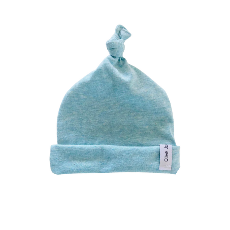 Olive June and Co - Knot Tie Seamless Beanie | Blue Marle