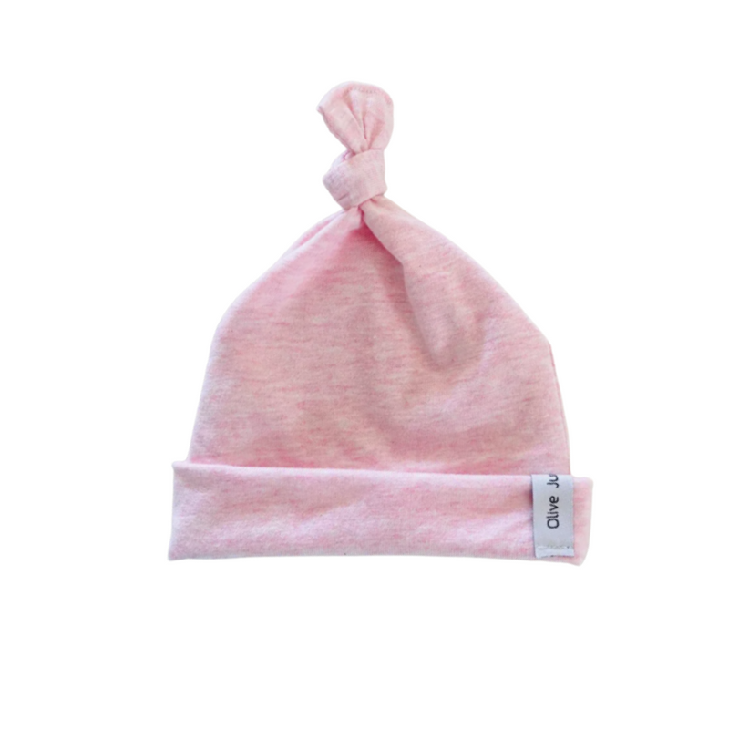 Olive June and Co - Knot Tie Seamless Beanie | Pink Marle