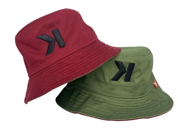 Knogins - DOS Green & Burgundy Bucket Hat
