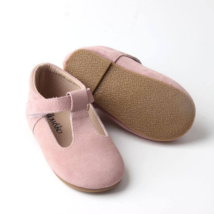 Willow & Ko - T-Bar Hard Sole Classic Vintage - Dusty Pink
