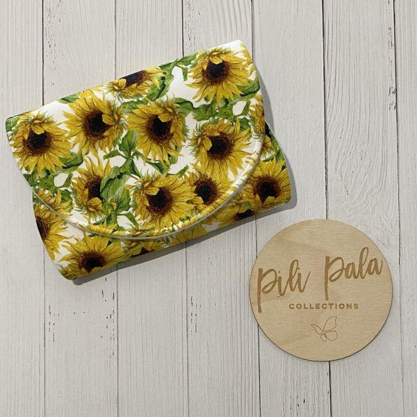 Pili Pala Collections - Sunflowers Contoured Burp Cloth