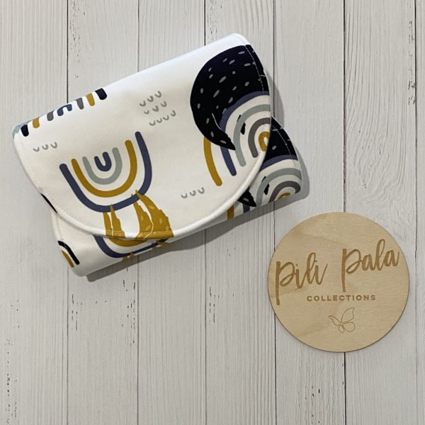 Pili Pala Collections - Rainbow Sloth Contoured Burp Cloth