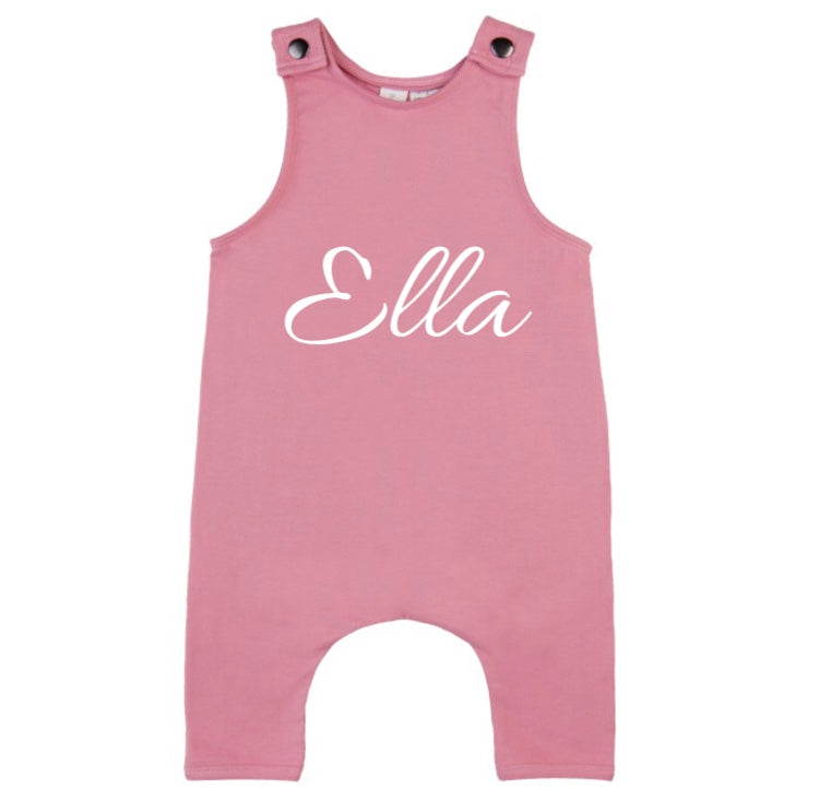 MLW By Design - Personalised Name Slouch Romper | Pink