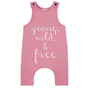 MLW By Design - Young Wild & Free Slouch Romper | Pink