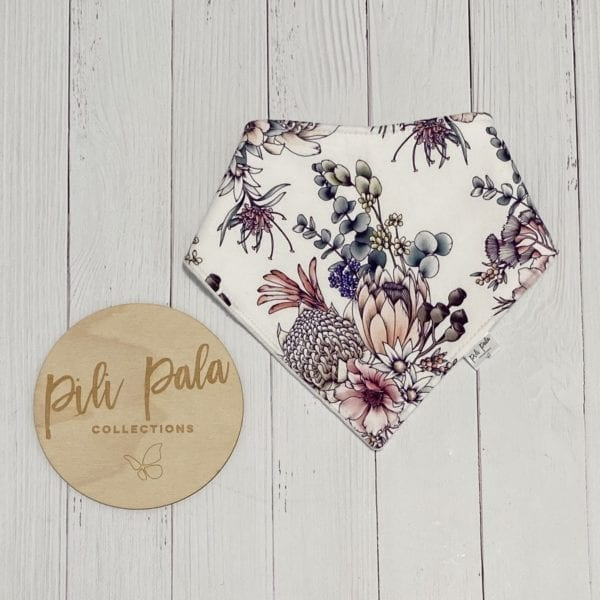 Pili Pala Collections - Waratah Dribble Bib