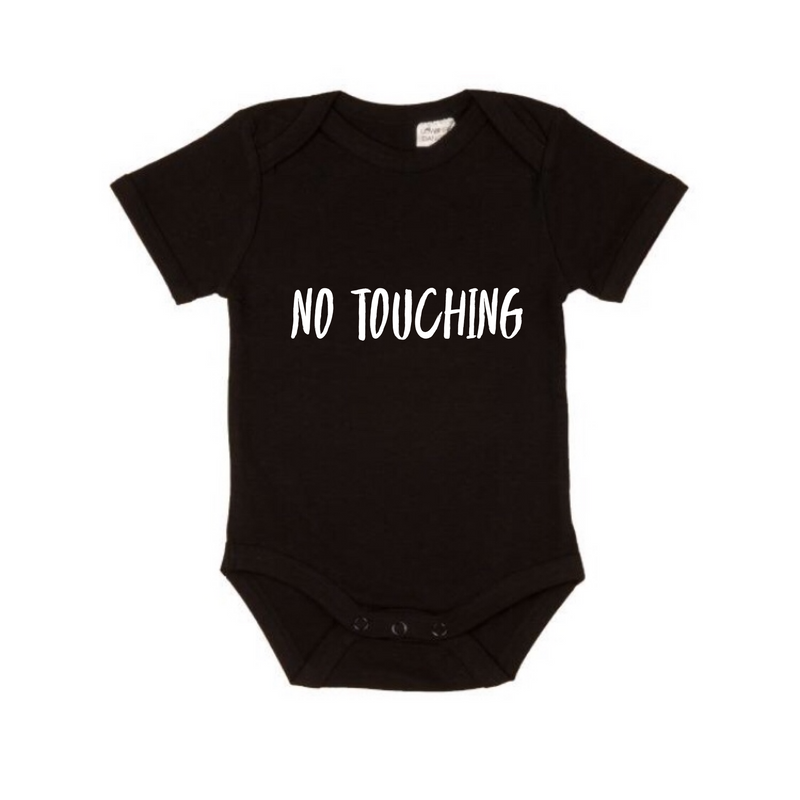 MLW By Design - No Touching Short Sleeve Bodysuit | Black or White