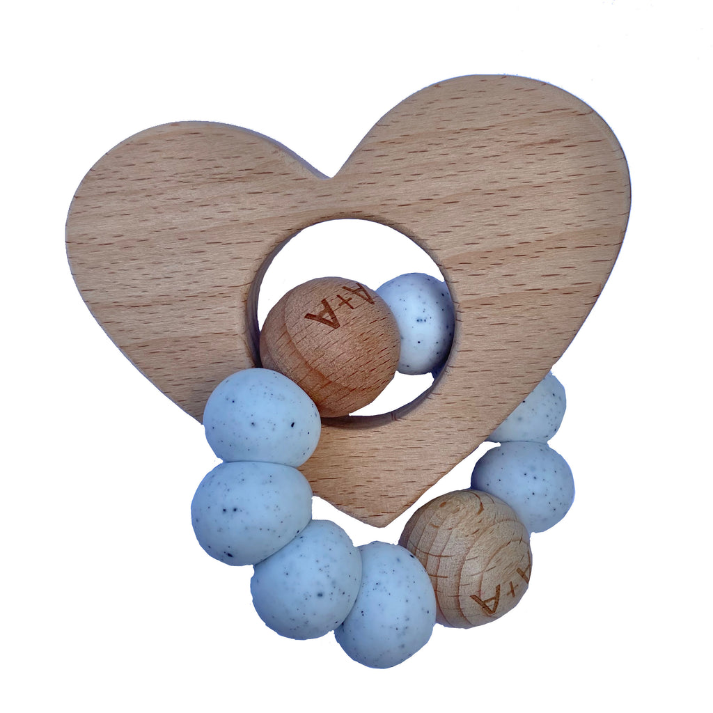 Arabella+Autumn - Heart Teether | Speckle