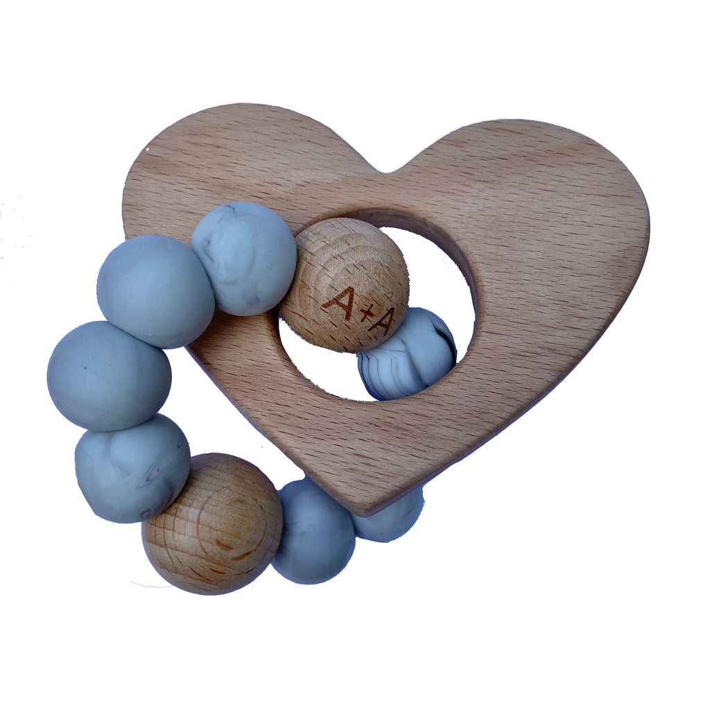 Arabella+Autumn - Heart Teether | Marble