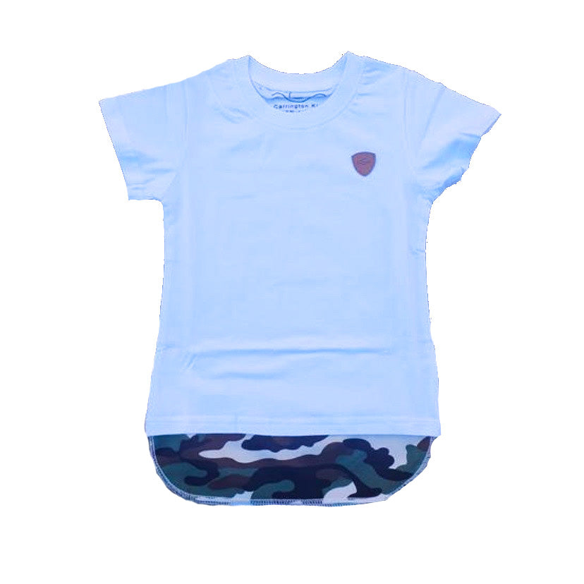 Carrington Kids - Camo Tall Tee White