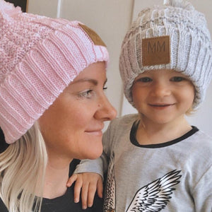 Mini Maxwell - Snow Flake Beanie Pink