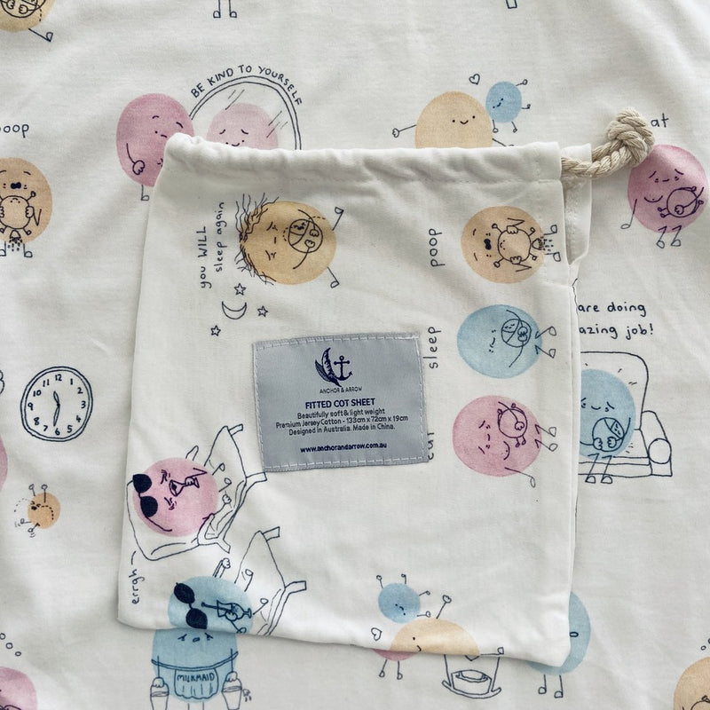 Anchor & Arrow - Josie Doodles Cot Sheet