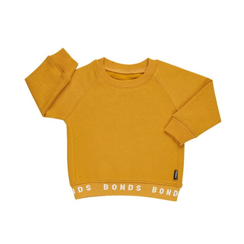 BONDS - Logo Fleece Pullover | Mustard