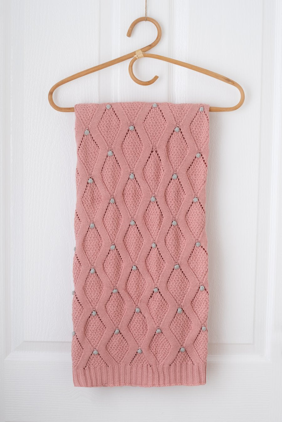 Kute Cuddles - Haven Knit Baby Blanket - Dusty Rose