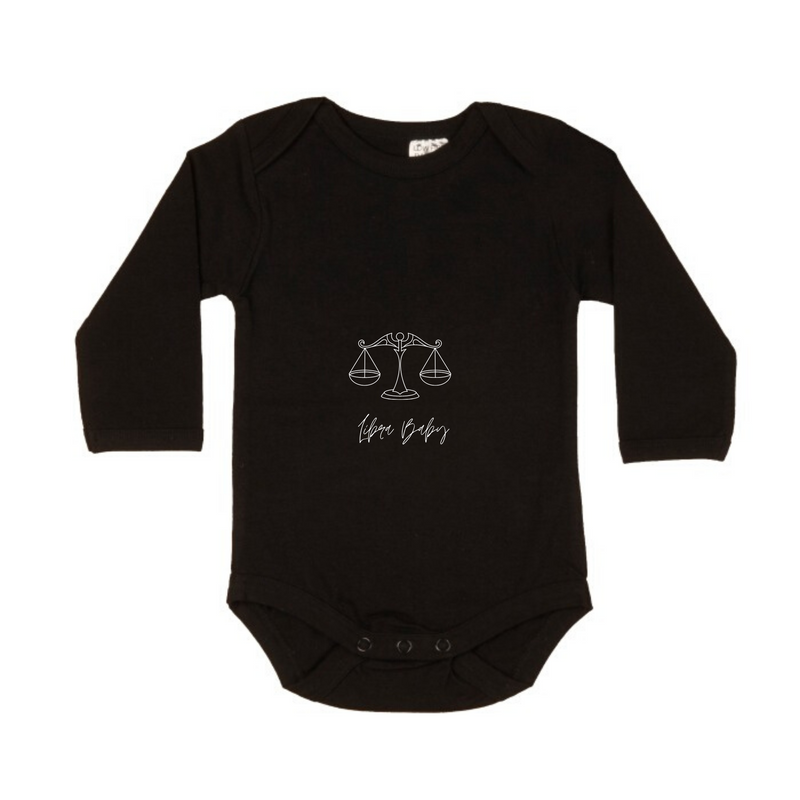 MLW By Design - Libra Baby Long Sleeve Bodysuit | Black