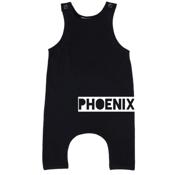 MLW By Design - Personalised Name Slouch Romper | Black