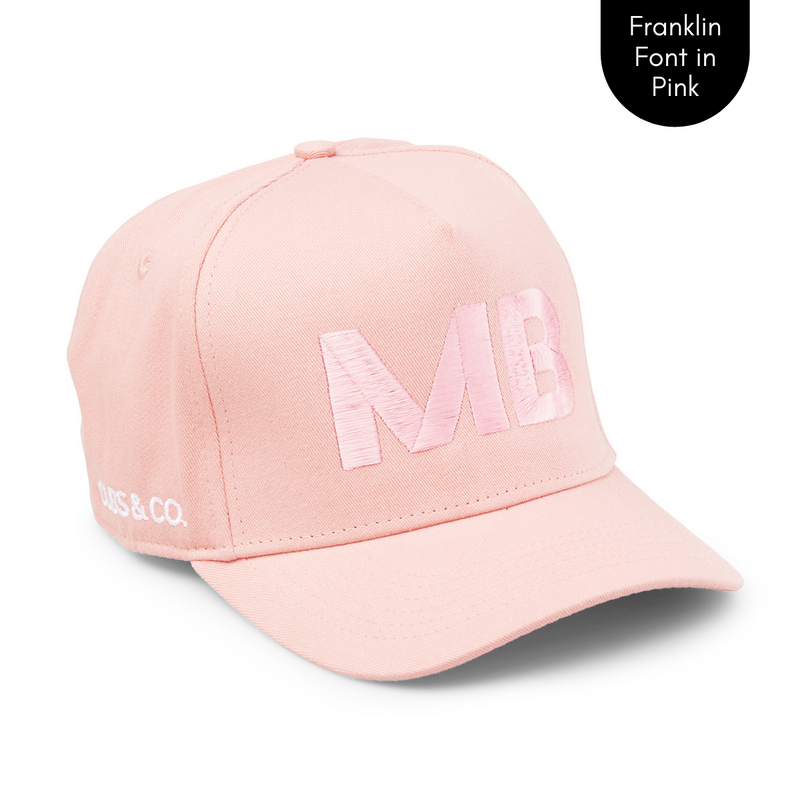 Cubs & Co - PERSONALISED PINK W/ INITIALS | FRANKLIN PINK FONT