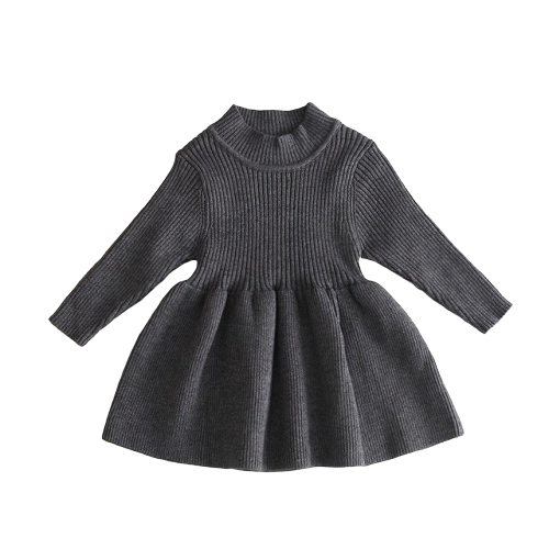 Poppy Winter Dress | Charcoal