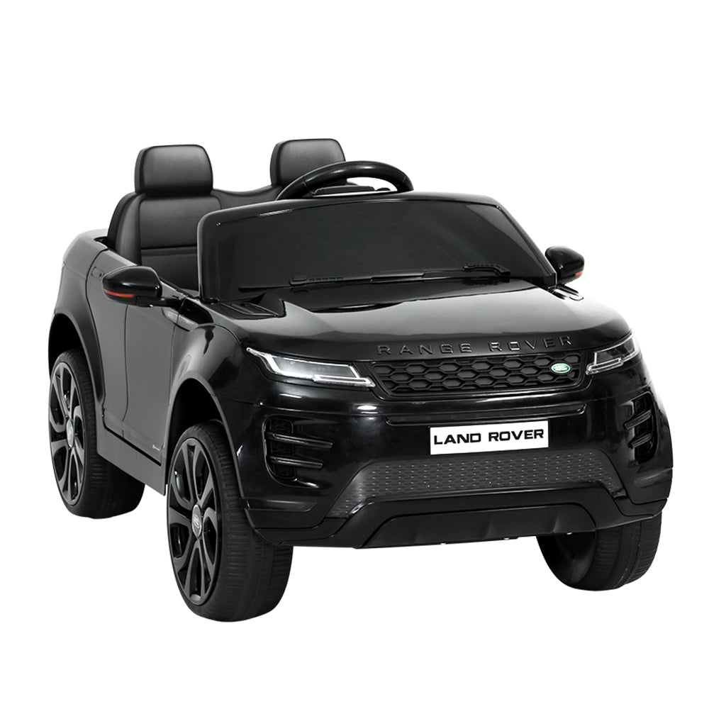 Licensed Land Rover 12V Electric Car with Remote Black