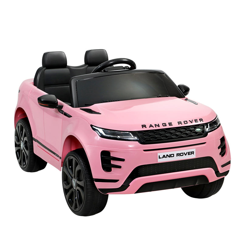Licensed Land Rover 12V Electric Car with Remote Pink