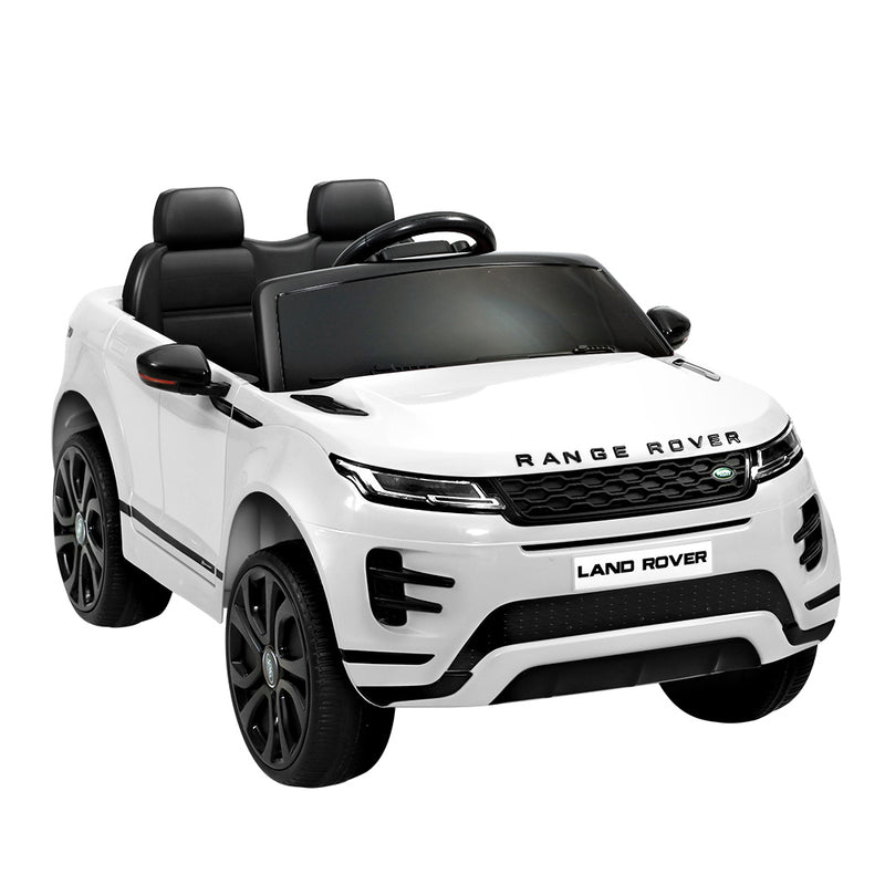 Licensed Land Rover 12V Electric Car with Remote White