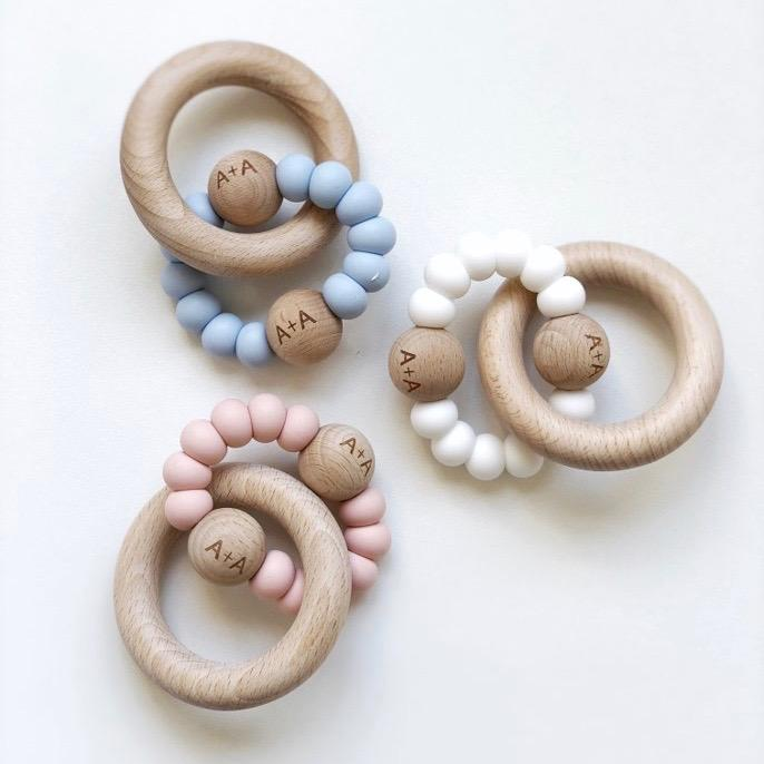 Arabella+Autumn - Saturn Teether | Pink, White or Blue