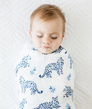 "Anchor & Arrow - ""Little Leopards"" Baby Swaddle"