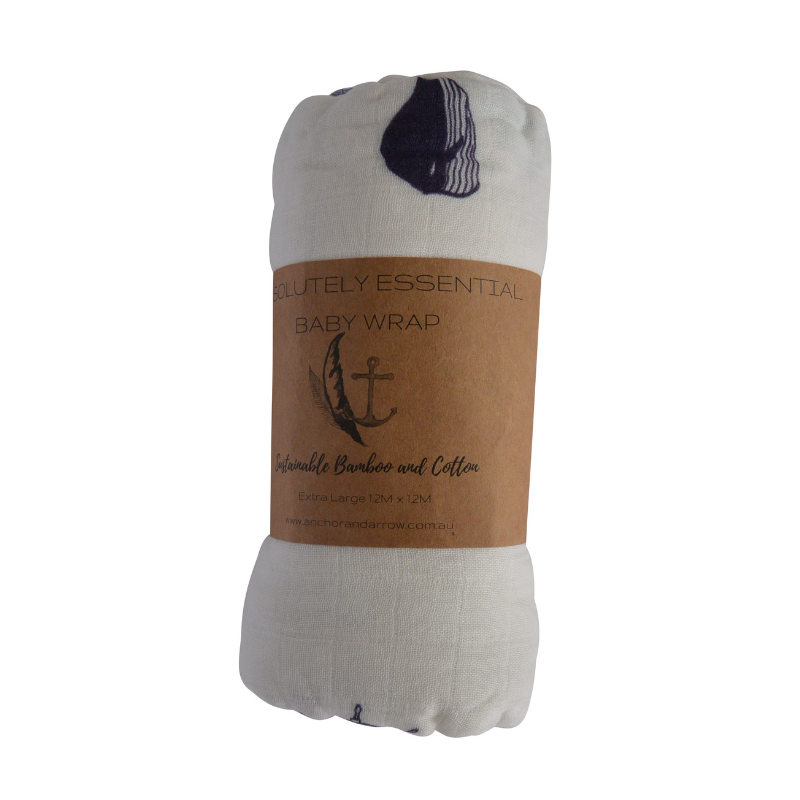 "Anchor & Arrow - ""Nautical days"" Baby Swaddle"