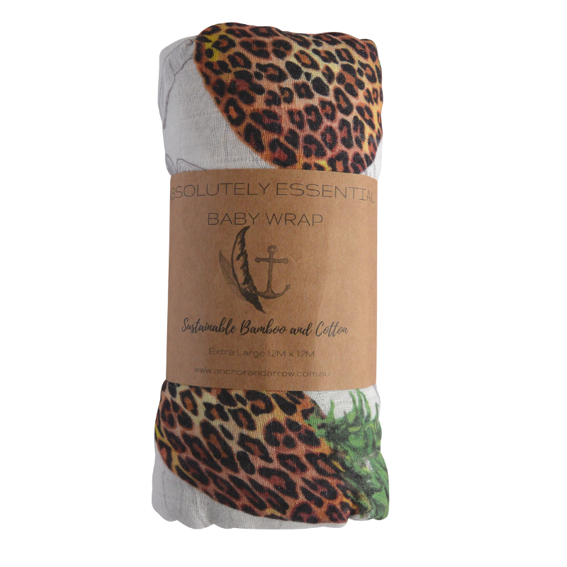 "Anchor & Arrow - ""Leopard pineapples"" Baby Swaddle"