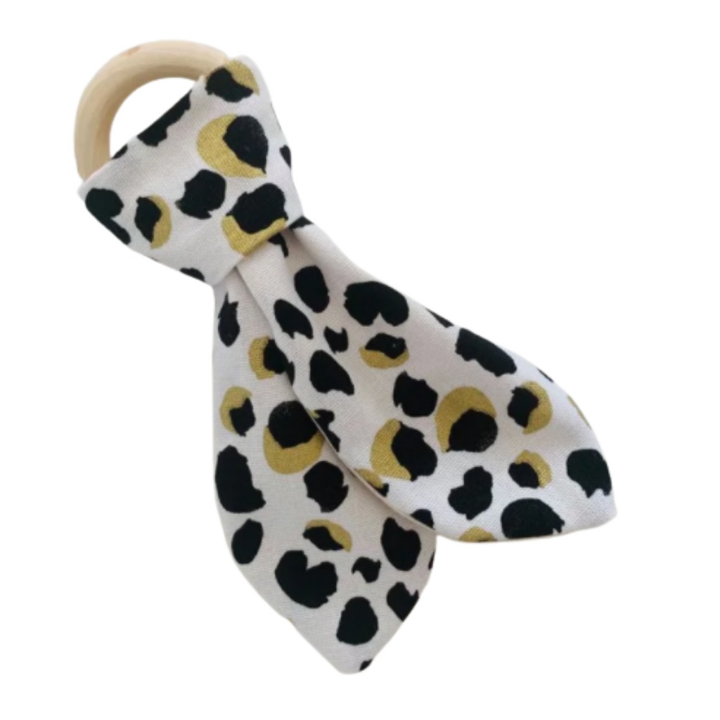 Olive June and Co - Natural Wood Fabric Teether | On Safari